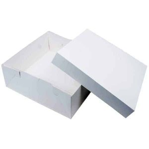 CAKE BOX WITH LID 18X18X5(H) INCH