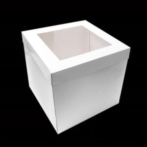 08″ TALL CAKE BOX WITH WINDOW  (12″ HIGH)
