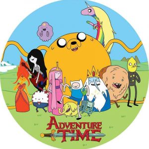 Adventure Time Edible Round Cake Image