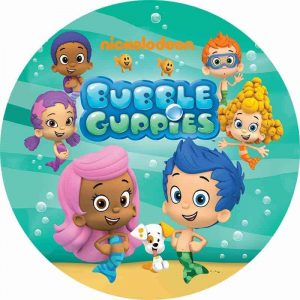 Bubble Guppies Round Cake Image