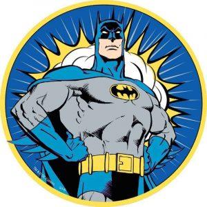 Batman Edible Round Cake Image