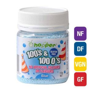 Natural Blue 100s & 1000s Sprinkles (Hopper)