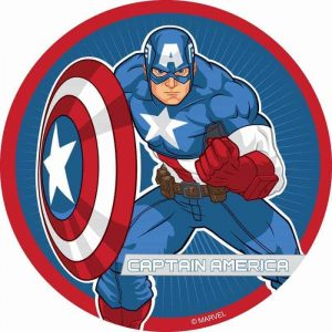 Captain America Round Cake Image