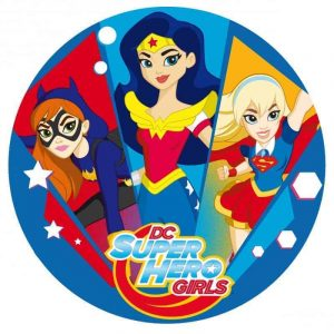Super Hero Girls Blue Round Edible Image