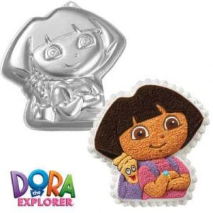 Dora with backpack Cake Tin
