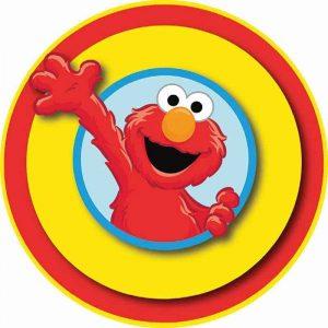 Elmo Edible Round Cake Image