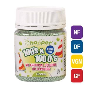 Natural Green 100s & 1000s Sprinkles (Hopper)