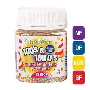 Natural Rainbow 100s & 1000s Sprinkles (Hopper)