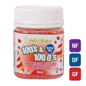 Natural Red 100s & 1000s Sprinkles (Hopper)