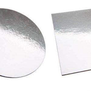STD Square/Round Silver Cake Board 03″ (7.5cm)
