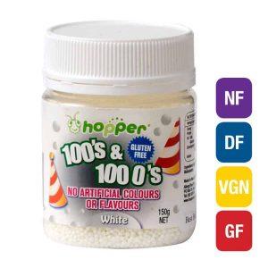 Natural White 100s & 1000s Sprinkles (Hopper)