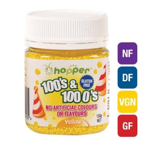 Natural Yellow 100s & 1000s Sprinkles (Hopper)