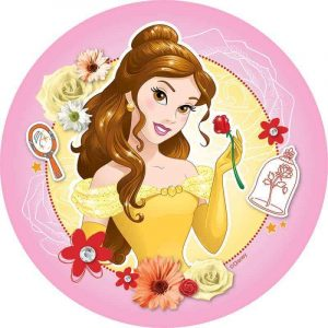 Belle Edible Round Cake Image