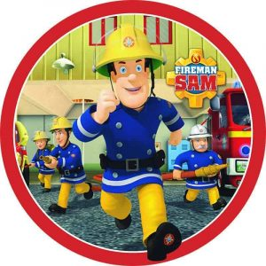 Fireman Sam Edible Round Cake Image