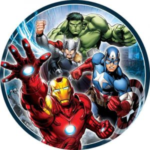 Avengers Round Edible Image