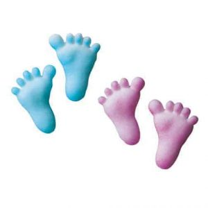 Baby Feet Cupcake Decal/Toppers