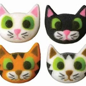 Cat Faces Cupcake Decal/Toppers