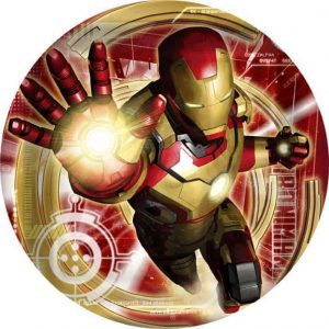 Iron Man Edible Round Cake Image
