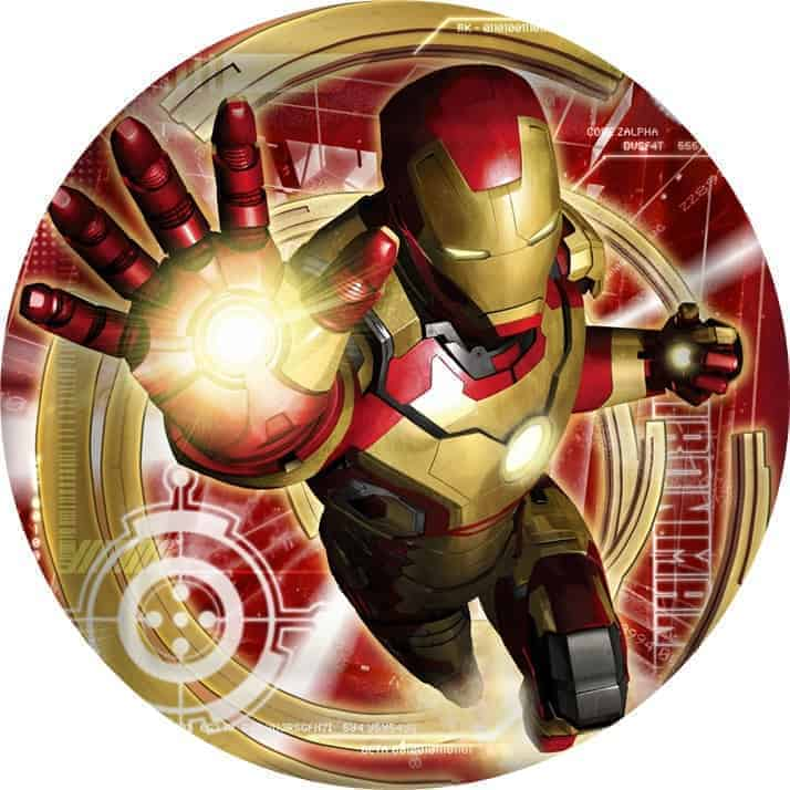 Iron Man Edible Round Cake Image My Delicious Cake