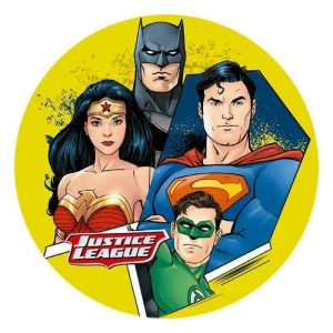 Justice League Round Edible Image