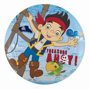 Jake The Pirate Edible Round Cake Image