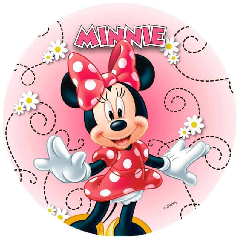 Minnie Mouse Edible Round Cake Image My Delicious Cake