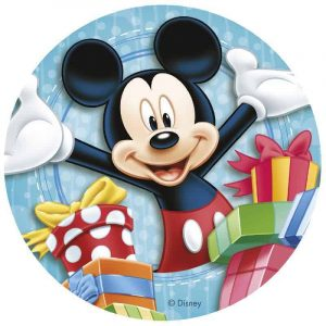 Mickey Mouse Edible Round Cake Image