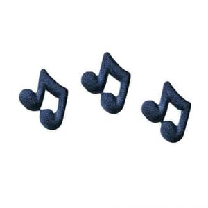 Musical Note Cupcake Decal/Toppers (12) PC