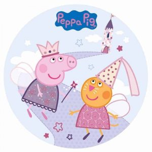 Peppa Pig Edible Round Cake Image
