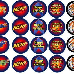 Nerf Edible Round Cake Image