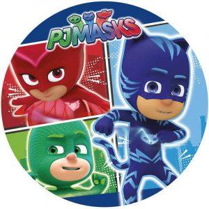 PJ Mask Round Edible Image