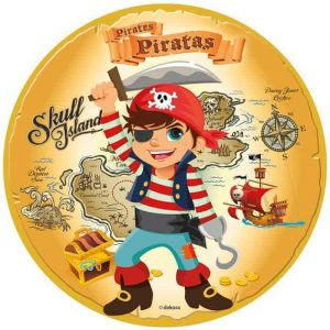Pirate Edible Round Cake Image