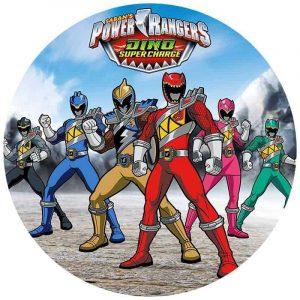 Power Rangers Round Edible Image