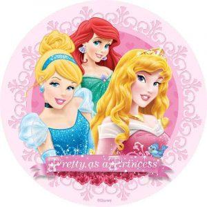 Princess Round Edible Image