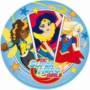 Super Hero Girls Round Edible Image