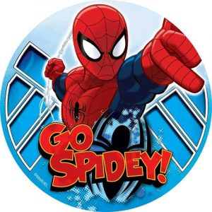 Spiderman Go Spidey Round Edible Image