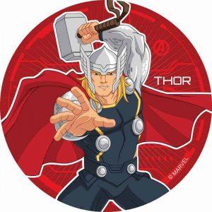 Thor Round Edible Image