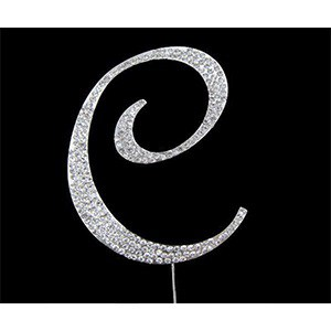 Letter C Diamante Topper – 7cm