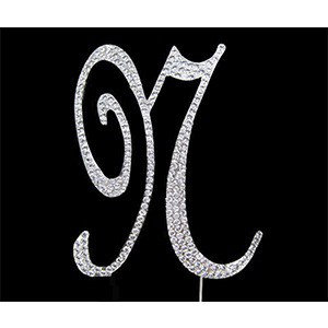 Letter N Diamante Topper – 7cm