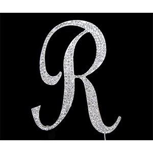 Letter R Diamante Topper – 7cm