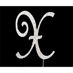 Letter X Diamante Topper – 7cm