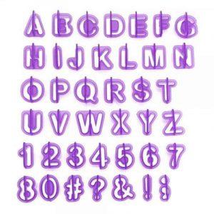 Alphabet Number Cutter Set 40PC