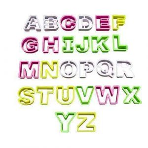 Cookie Cutters A-Z Upper Case Alphabet Letters
