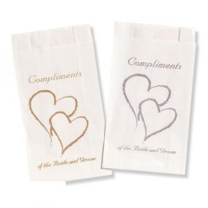 Double Heart Gold Cake Bags COTBAG