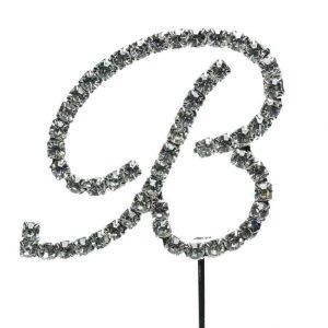 Letter B Diamante Topper – 4cm