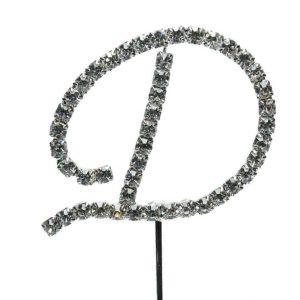 Letter D Diamante Topper – 4cm