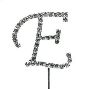 Letter E Diamante Topper – 4cm