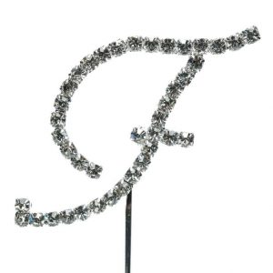 Letter F Diamante Topper – 4cm