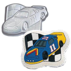 Race Car with Flag Cake Tin