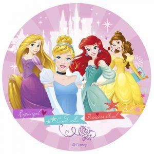 4 Princess Edible Round Cake Image